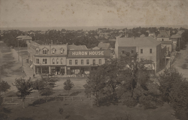 Looking W.S.W. from Court House, date unknown