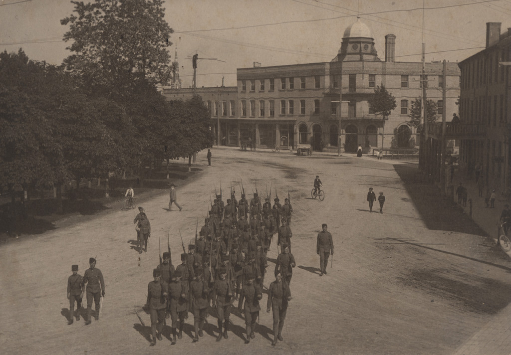 Marching cadets, 1902