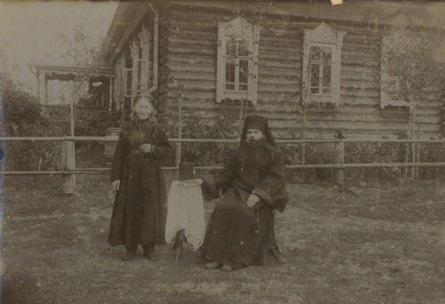 Murom in portraits. Persons of spiritual rank. In the monastery. 1900 - 1910.
