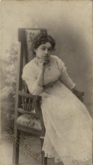 Murom, Portrait of an unknown girl in a lace dress. 1905-1910