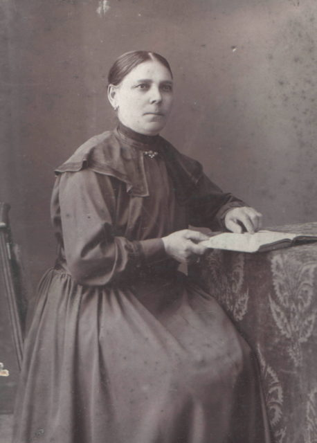 Murom. Woman portrait. Black dress. 1900s