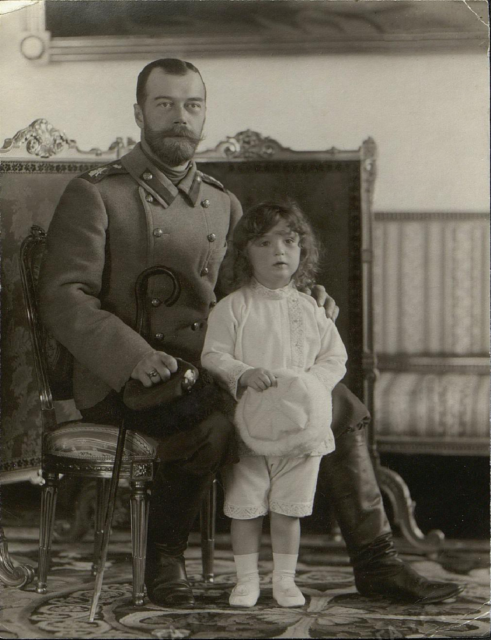 Nicholas II with Tsesarevich Alexey