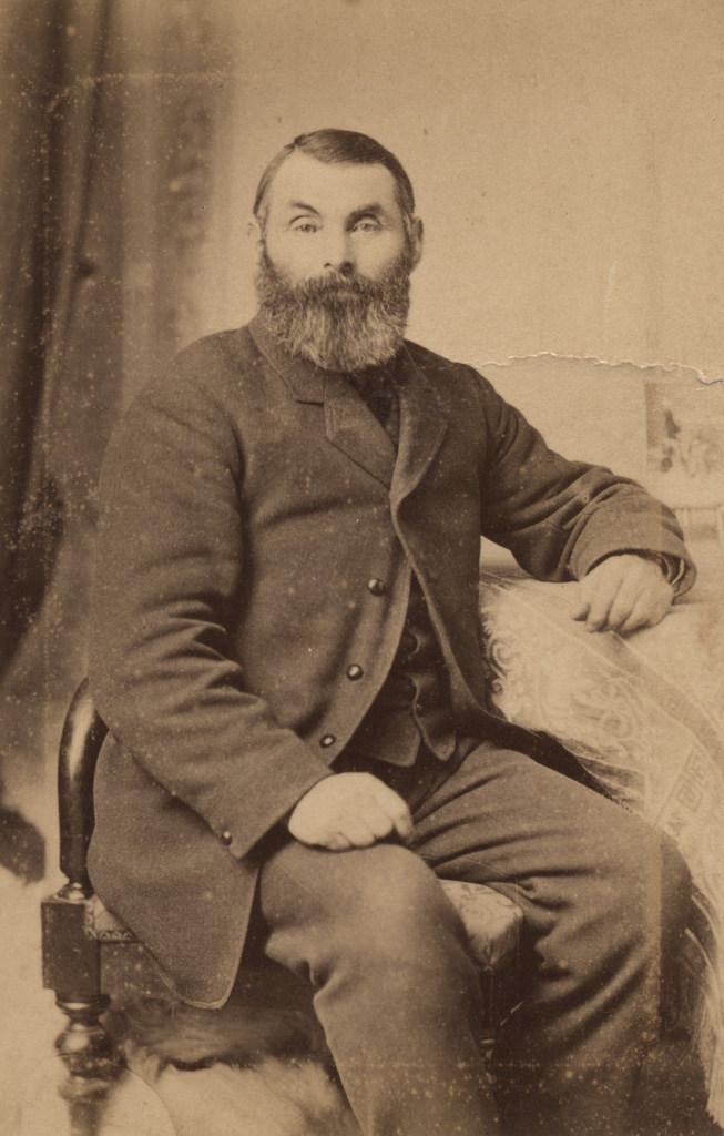 Portrait of a bearded man, date unknown