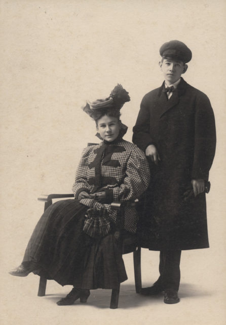 Portrait of photographer's children, date unknown