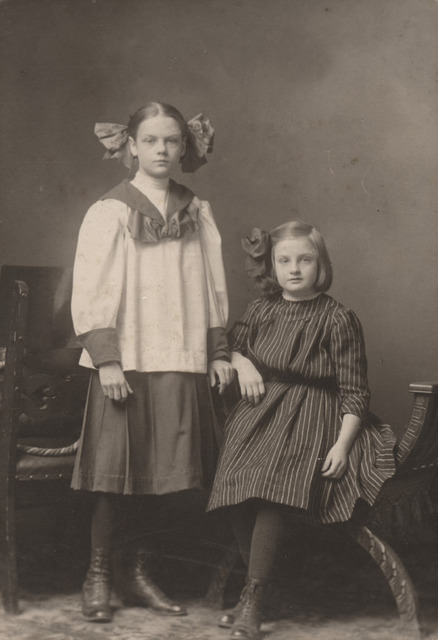 Portrait of two young girls, date unknown