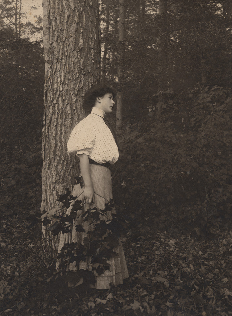 Portrait of woman outdoors, date unknown