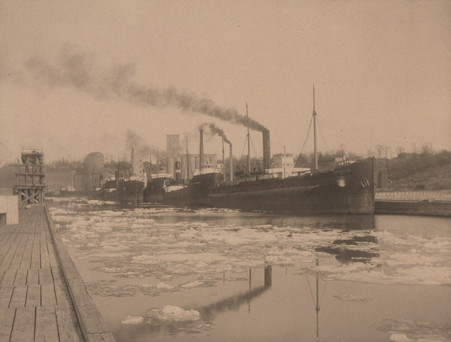 Ships in Goderich harbour, date unknown