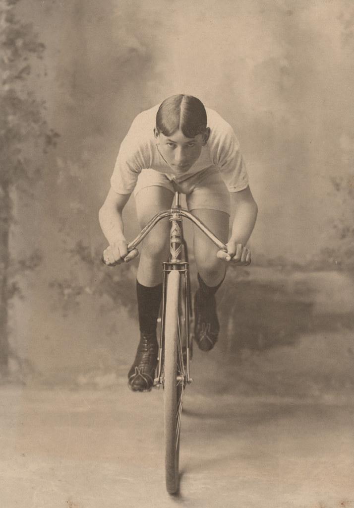 The biker, date unknown