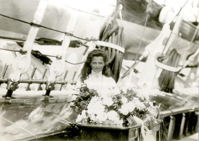 The Grand Duchess Maria Nikolaevna. The third daughter of Emperor Nicholas II and Empress Alexandra Feodorovna. On the ship.