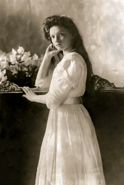 The Grand Duchess Tatiana Nikolaevna.  The second daughter of the Russian Emperor Nicholas II.