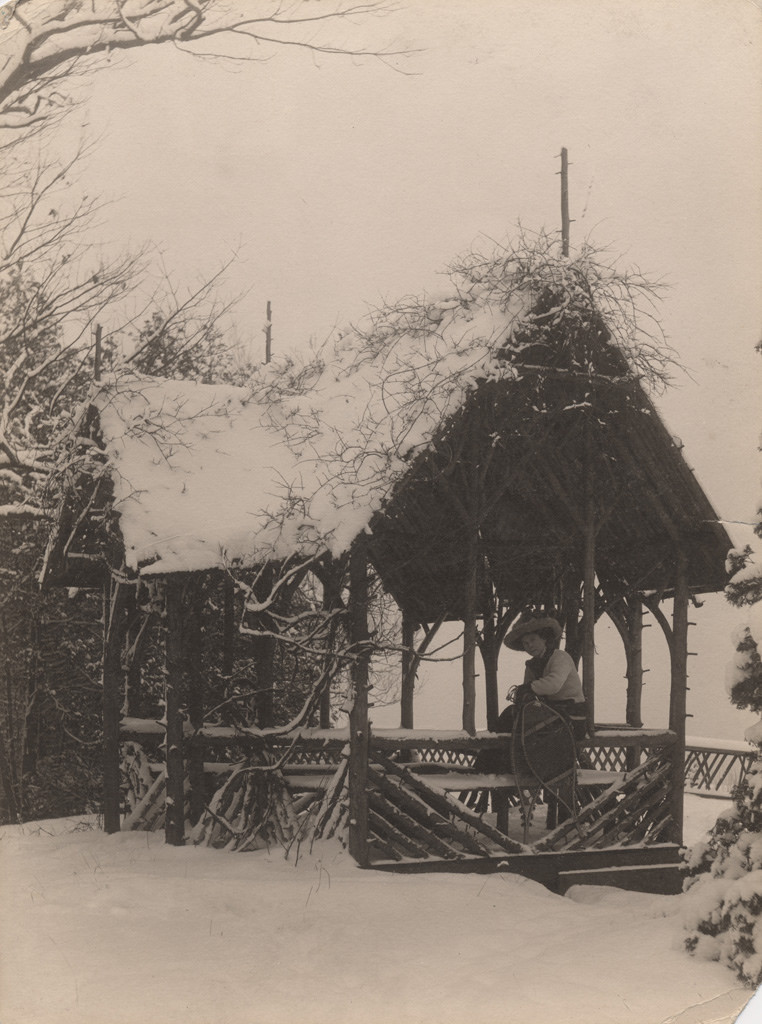 The summer house in winter, 1909