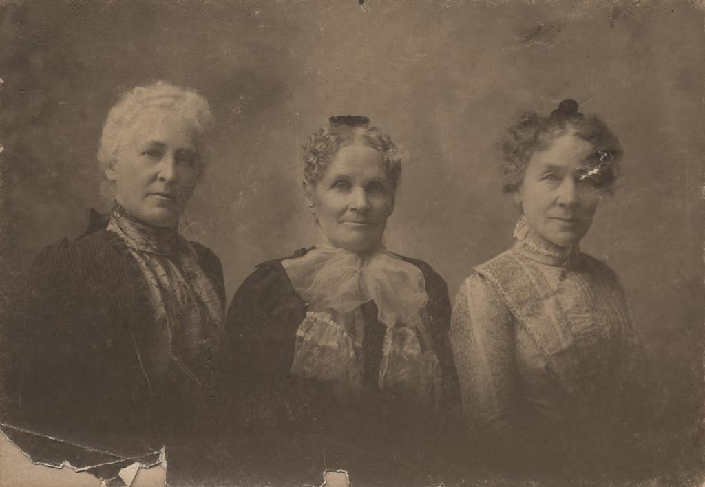 Trio of ladies, date unknown