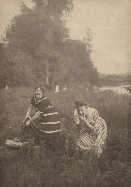 Two women in bathing costumes, date unknown