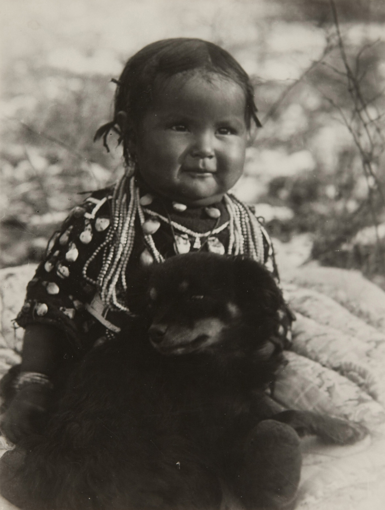 Untitled (Native American Child with Dog)
