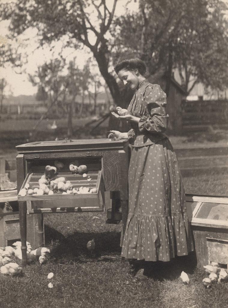 Женщина с цыпленком на руках, 1910 год