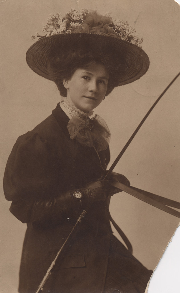 Woman traveller, date unknown