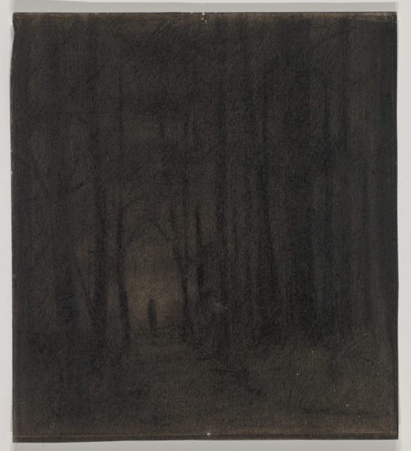 Figure in a Dark Wood, possibly a stage set design