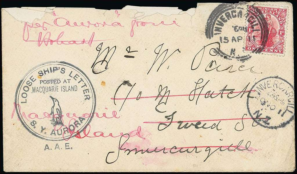 Antarctic Mail 1911
