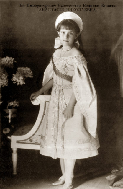 Grand Duchess Anastasia Nikolaevna. The fourth daughter of Emperor Nicholas II and Empress Alexandra Feodorovna. Photo of 1911.