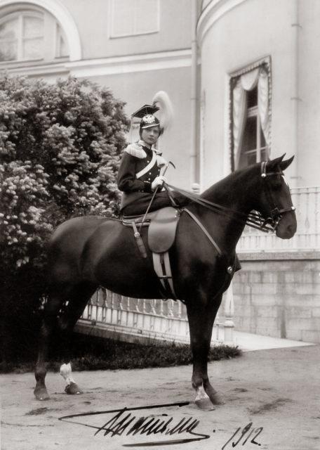 Grand Duchess Tatiana in military uniform
