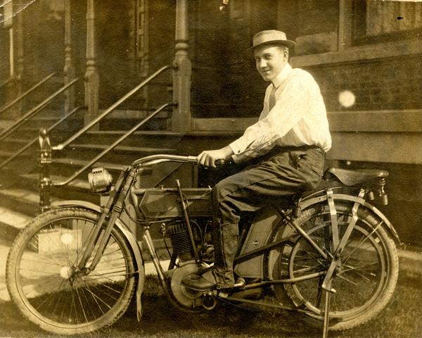 Unidentified man on a Harley Davidson motorcycle in Estero, Florida