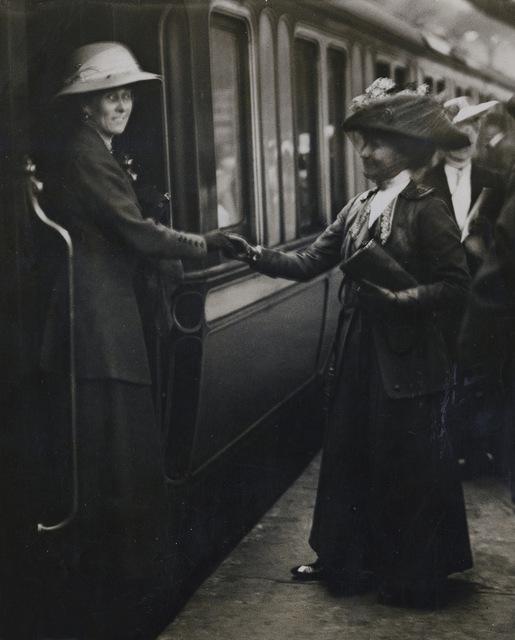 Barbara Wylie and Emmeline Pankhurst, 1912.