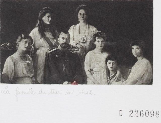 La famille du tsar en 1912 -Emperor of Russia Nikolai II