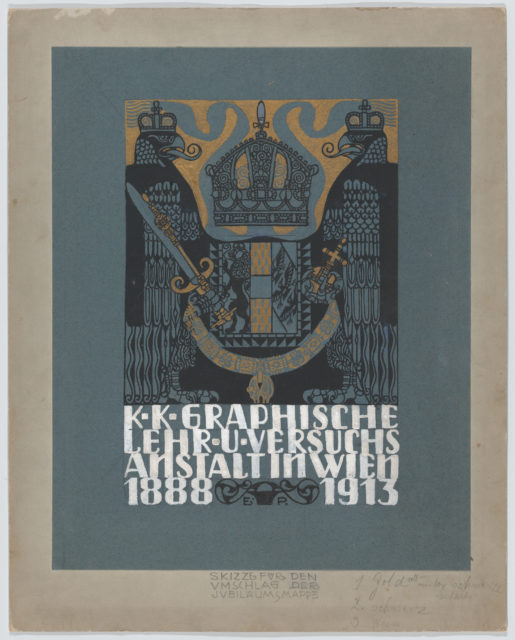 Design for the cover of the 25th anniversary publication of the Viennese Graphic Design School (1888-1913)