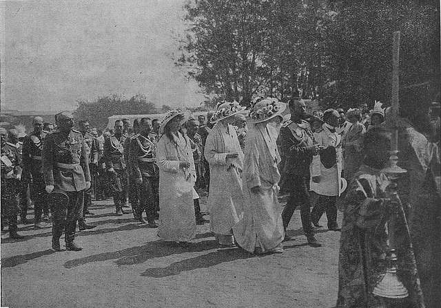 The Emperor, His Daughters and their attendants are sent to the Ipatiev Monastery.