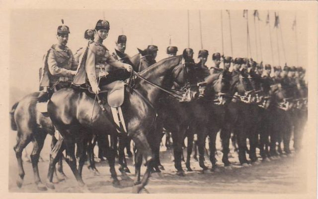 Grand Duchess Olga with her regiment