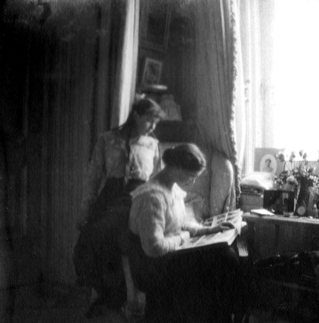 Grand Duchesses Anastasia and Olga. Alexander Palace.