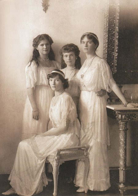 Grand Duchesses of Russia: Olga, Tatiana, Maria and Anastasia