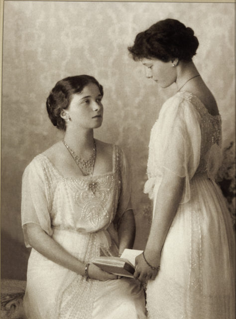 Grand Duchesses Olga and Tatiana. 1913.