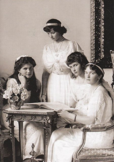 Grand Duchesses Olga, Tatyana, Marie and Anastasia - 1913