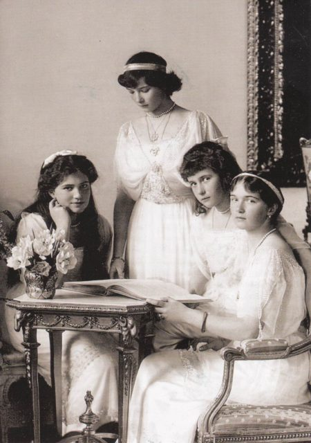 Grand Duchesses Olga, Tatyana, Marie and Anastasia - 1913