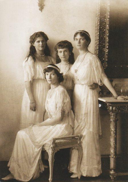 grand duchesses Olga, Tatyana, Marie and Anastasia