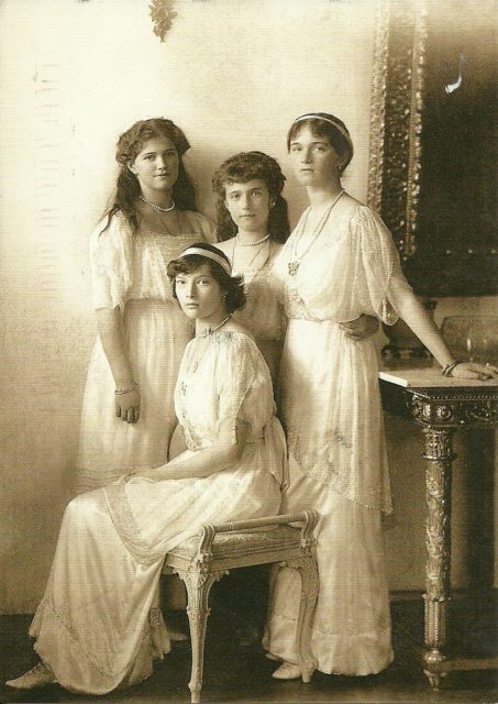 Grand Duchesses Olga, Tatyana, Marie and Anatasia