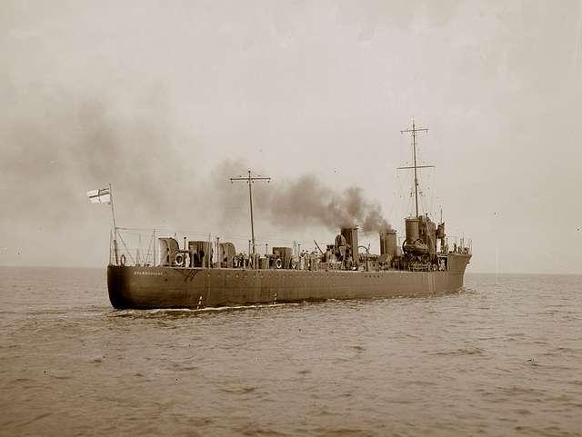 HMS Sparrowhawk at sea