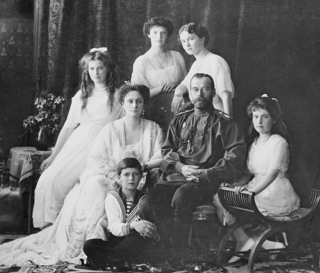 Nicholas II, Emperor of Russia and his family.