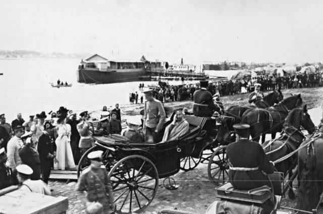 The arrival of Emperor Nicholas II in Kostroma. 1913
