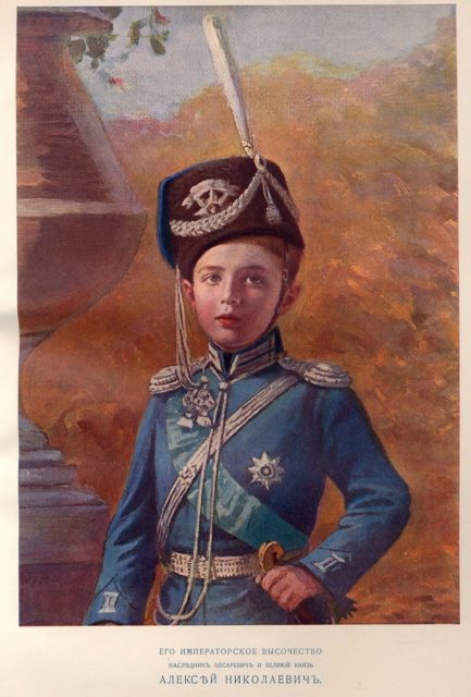 Portrait of His Imperial Highness the Heir of the Tsesarevich and Grand Duke Alexei Nikolaevich.