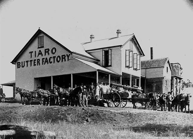 Tiaro Butter Factory which was moved to Murgon in 1913