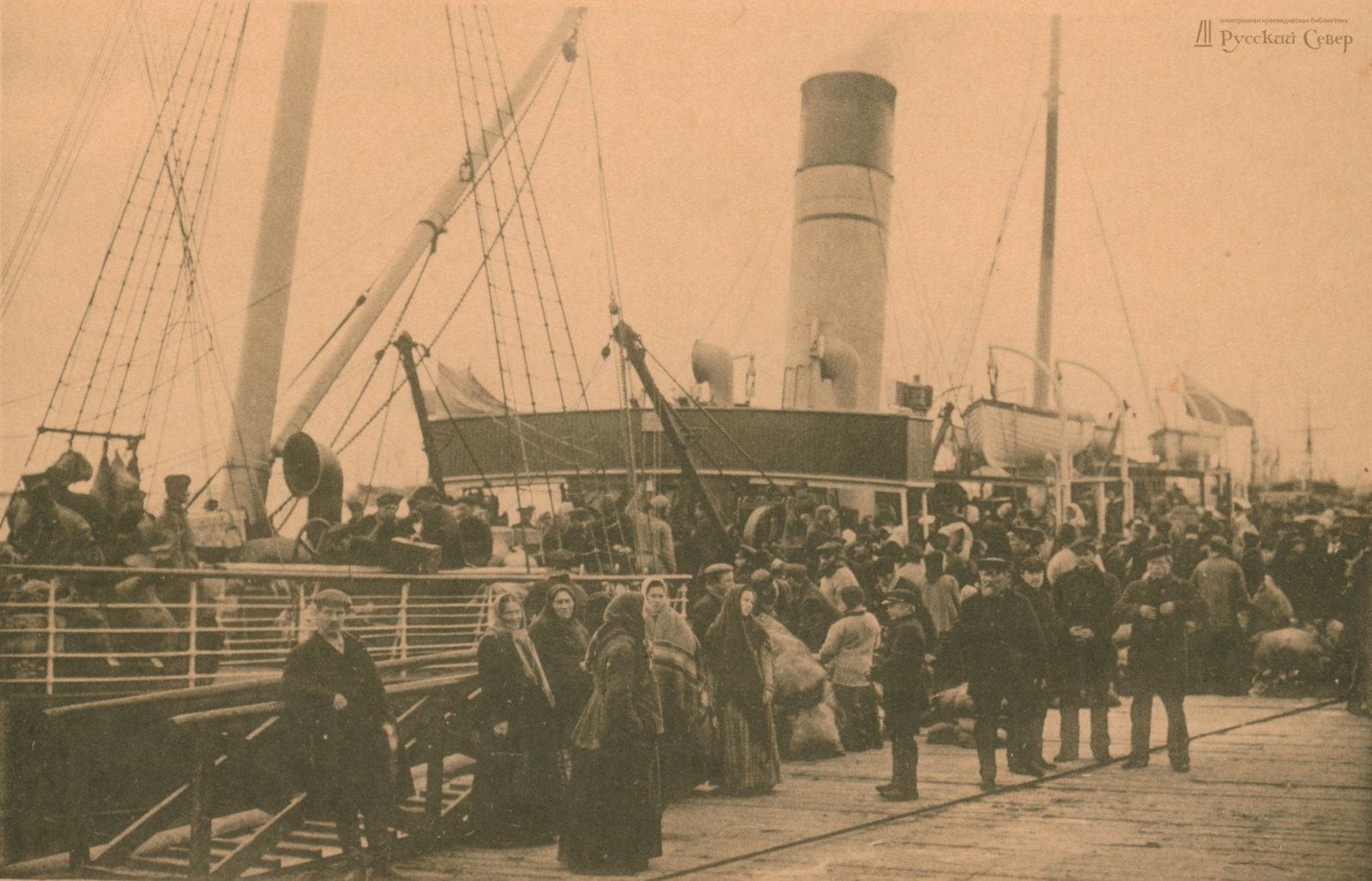 Embarkment on a Steamship, Arkhangelsk (Archangel)