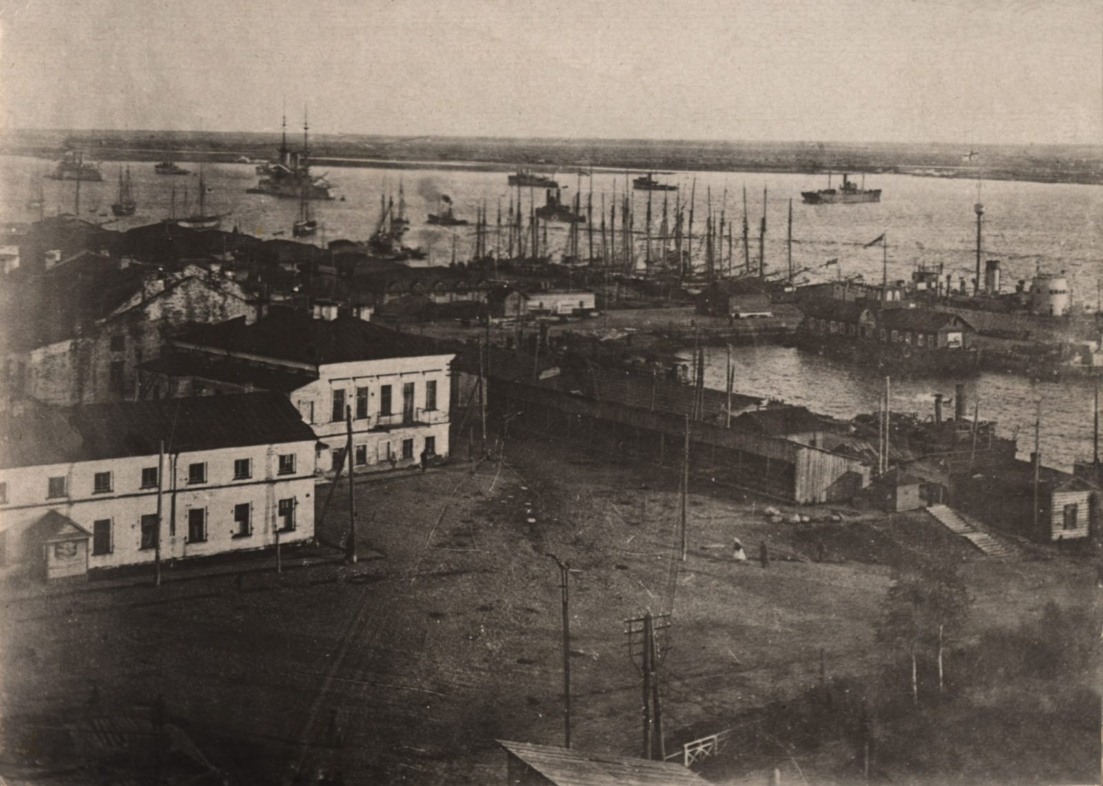 Arkhangelsk Port with navy ships (Archangel)
