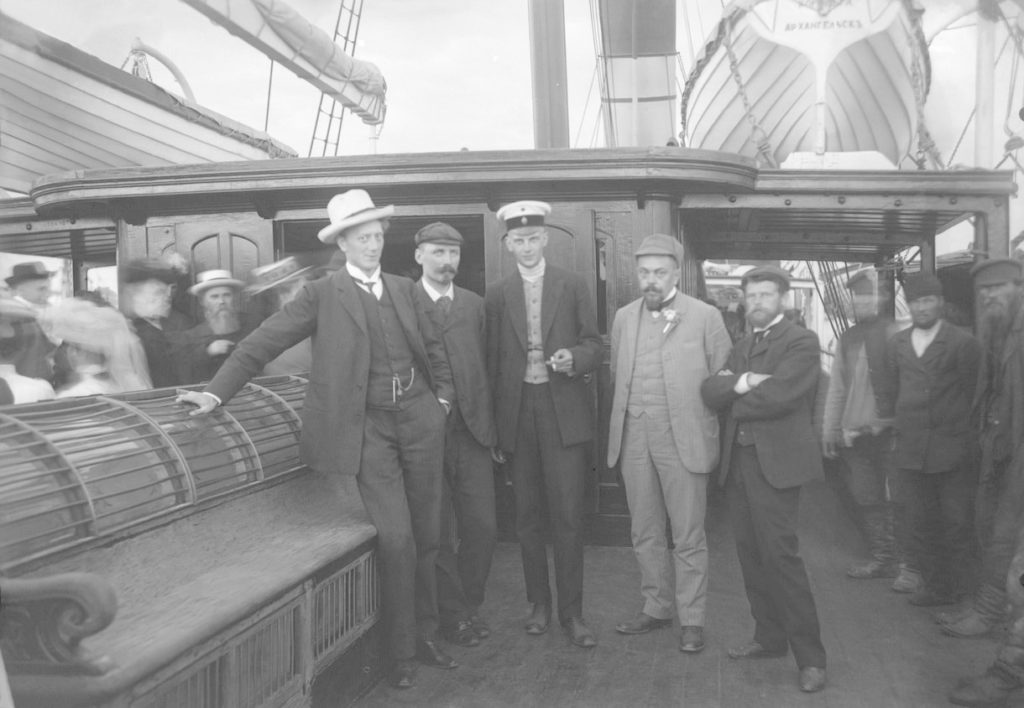 Arkhangelsk (Members of the expedition to the Novaya Zemlya on the ship Queen Olga in 1909)