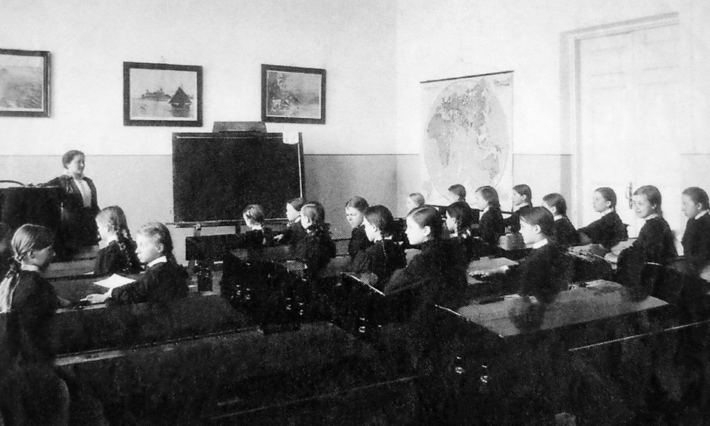At the lesson at the Olginskaya Gymnasium. 1914 - Arkhangelsk (Archangel)