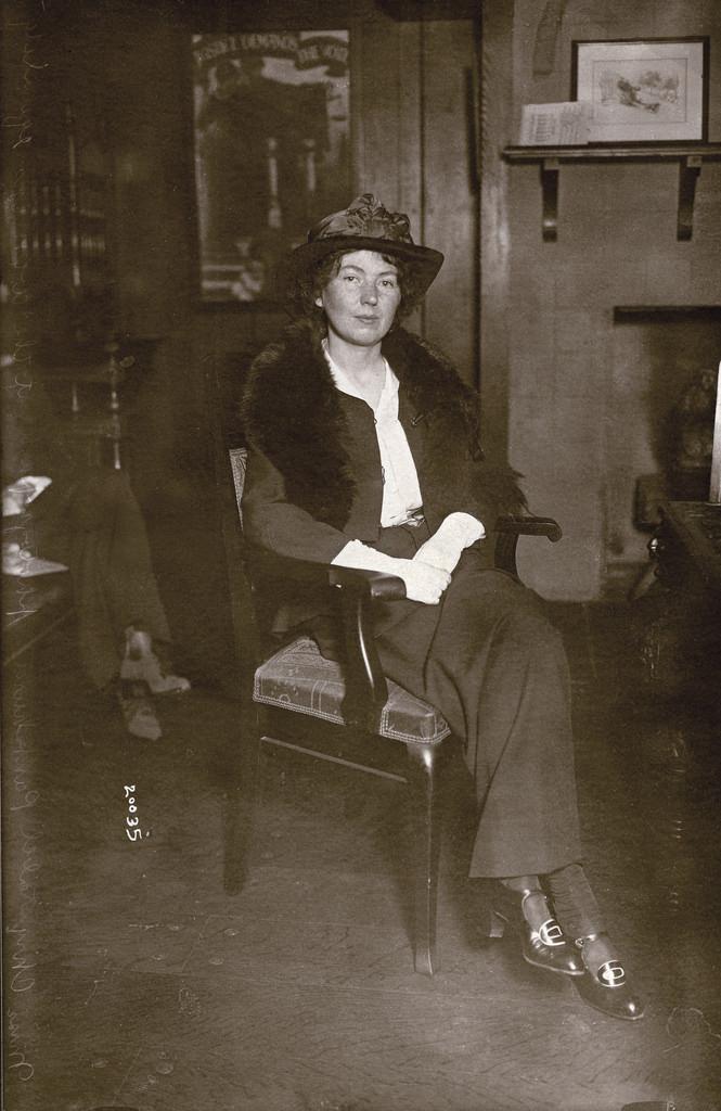 Christabel Pankhurst in New York, c.1914.