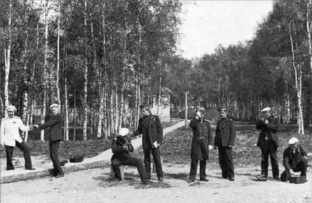 Classes on navigation in the Arkhangelsk Merchant Marine School. 1910s