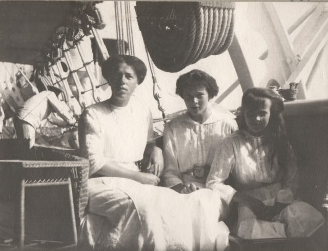 Daughter of Nicholas II on the Yacht Standard
