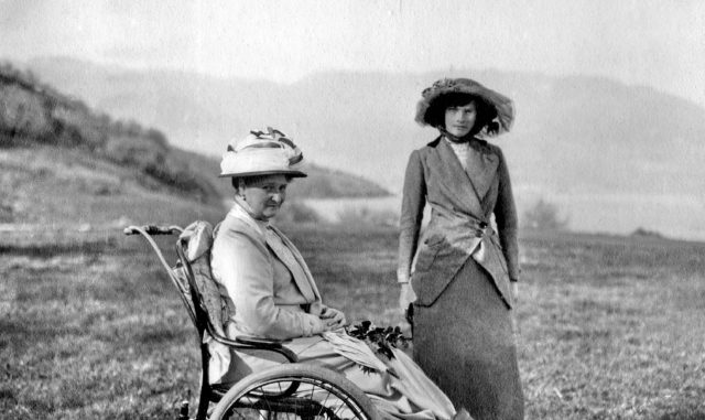 Empress Alexandra Feodorovna with GD Tatiana . Crimea . 1914.